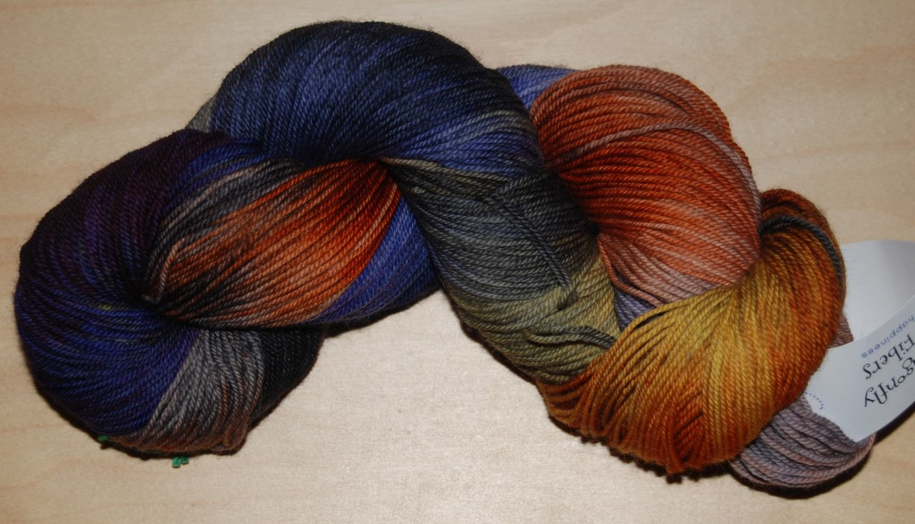 Dragonfly Fibers Djinni Sock - Bad Moon Rising